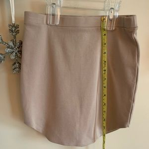 Forever 21    Stretch mini.  Great neutral color